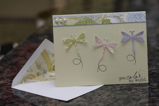 Dragonfly Trio Card